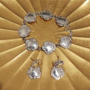 RM Jordan Vintage Spoon Bracelet & Earring SET